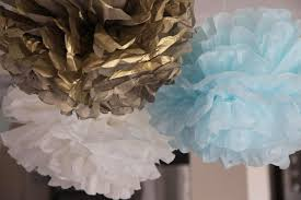 Blue And Gold Baby Shower Decorations by Bubble And Sweet Blue Ruffle Birdie Baby Shower