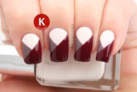 geometric colour blocked nails a is for angles kerruticles
