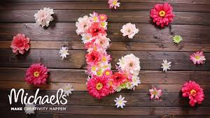 how to make a floral letter michaels youtube