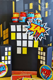 Superhero Backdrop Superhero Birthday Party Ideas Table Setting Little Capes And