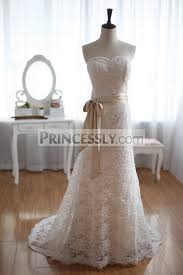 vintage inspired french corded lace wedding dress champagne lining