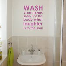 Bath Wall Decor by Bathroom Wall Decals Removable 10 Wall Decals For Kids