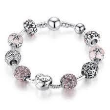 antique charm bracelet charms images Antique 925 sterling silver heart charm bracelet diyosworld jpg