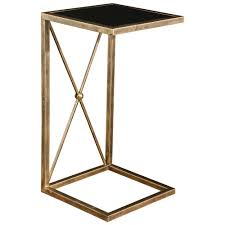 black and gold side table lexington modern classic antique gold black glass side table