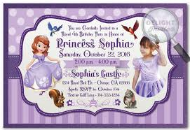 sofia birthday invitations 660 custom invitations