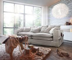 couch auf raten big sofa noelia elfenbeinfarben 240x145 cm mit kissen hussensofa