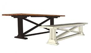 Free Building Plans For Outdoor Furniture by Remodelaholic Rustic X Dining Table And Bench Building Plan