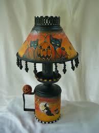 magic brush studio ooak hand painted vintage halloween lamp on e