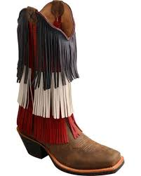 twisted x s boots twisted x s vfw white blue fringe boots boot