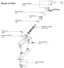 Moen Single Lever Kitchen Faucet Kitchen Amusing Moen Single Handle Kitchen Faucet Repair Diagram