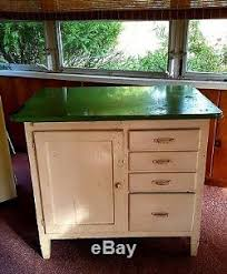 old hoosier porcelain enamel top baker u0027s table wood apt kitchen