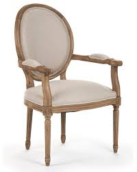 French Linen Armchair Madeleine French Country Louis Xvi Linen Oval Dining Arm Chair