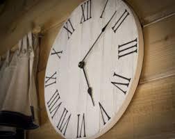 large wood wall large wall clock etsy