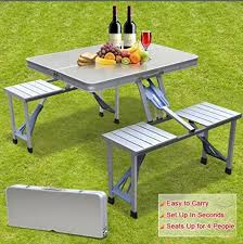 Portable Folding Picnic Table Smartlife High Quality Outdoor Aluminum Split Folding Tables And