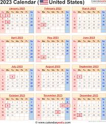 2023 calendar for the usa with us federal holidays