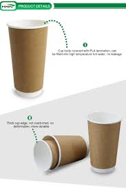 disposable export paper coffee carton cup with handle pla paper