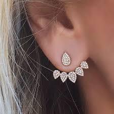 sided stud earrings front back sided stud earrings pluto99