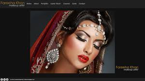 makeup artists websites fareeha khan makeup artist slough web design cost effective web