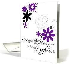 congratulations promotion card congratulations on promotion to professor greeting card