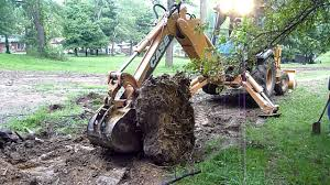 case 580 super n battling stump part iii youtube