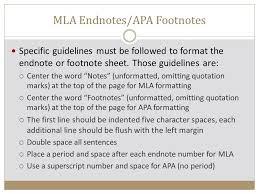 apa format notes citations modern language association mla ppt video online download