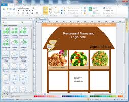 Home Design Software System Requirements Easy Menu Designer Design Attractive Menus From Templates