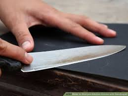 how to sharpen kitchen knives with sandpaper 5 steps
