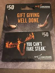 longhorn gift cards longhorn steakhouse 50 gift card free mailing 152871569109