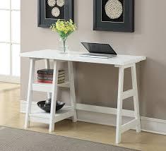 Home Office Desks White Convenience Concepts Designs2go Trestle Desk White