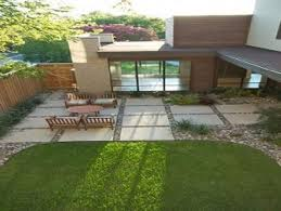 Large Pavers For Patio by Large Concrete Patio Pavers With River Rock In Between Gaps