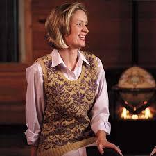 ravelry ladies jacquard sweater vest pattern by ann druce hoffman