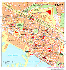 Map Of France Cities by Maps To Print Map Of Toulon Attractions Planetware Foodie
