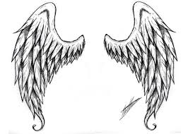 images for black and white cross with wings tattoo designs clip
