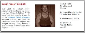 Muscles Used During Bench Press Bench Press Program Increase Your Bench Press Routine