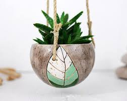 Hanging Ceramic Planter by Ceramic Hanging Planter Ceramic Planter Plant Pot Cat