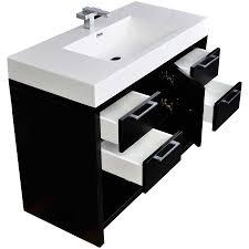 39 Inch Bathroom Vanity 40 Inch Modern Bathroom Vanity Set In Black Tn L1000 Bk