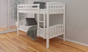 White Wooden Bunk Bed Happy Beds American Solid White Wooden Bunk Bed Frame Bedroom Home