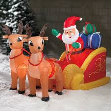 Christmas Goose Outdoor Decorations by 8 Best Santa And Reindeer Outdoor Decorations Images On Pinterest