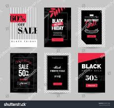 best graphic cards deals black friday black friday sale cards set mobile stock vector 500315380
