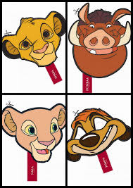 the lion king free printable masks is it for parties is it