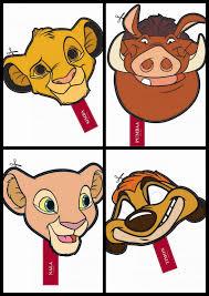 lion king free printable masks parties