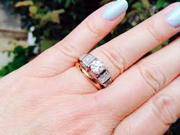 silver engagement ring gold wedding band mixing metals for engagement ring silver and wedding band