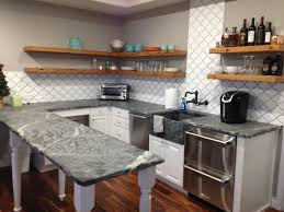 furniture appealing grey finished kitchen cabinetry system added