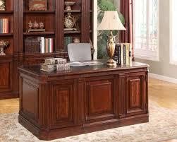 Double Pedestal Desk With Hutch by Parker House Wellington Double Pedestal Executive Desk Phwel 480