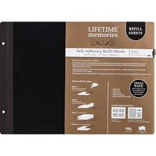 self adhesive photo album pages lifetime memories jumbo self adhesive refill sheets big w