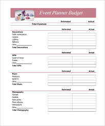 12 best images of simple event budget worksheet printable simple