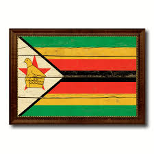 vintage home interior products zimbabwe country flag vintage canvas print with brown picture