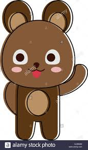 imagenes animadas oso cute dibujos animados oso ilustración del vector imagen 166525772