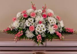 casket sprays mixed pink white casket spray same day louisville ky flower