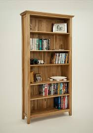 Low Narrow Bookcase by Bookcases Oak Furniture Solutions